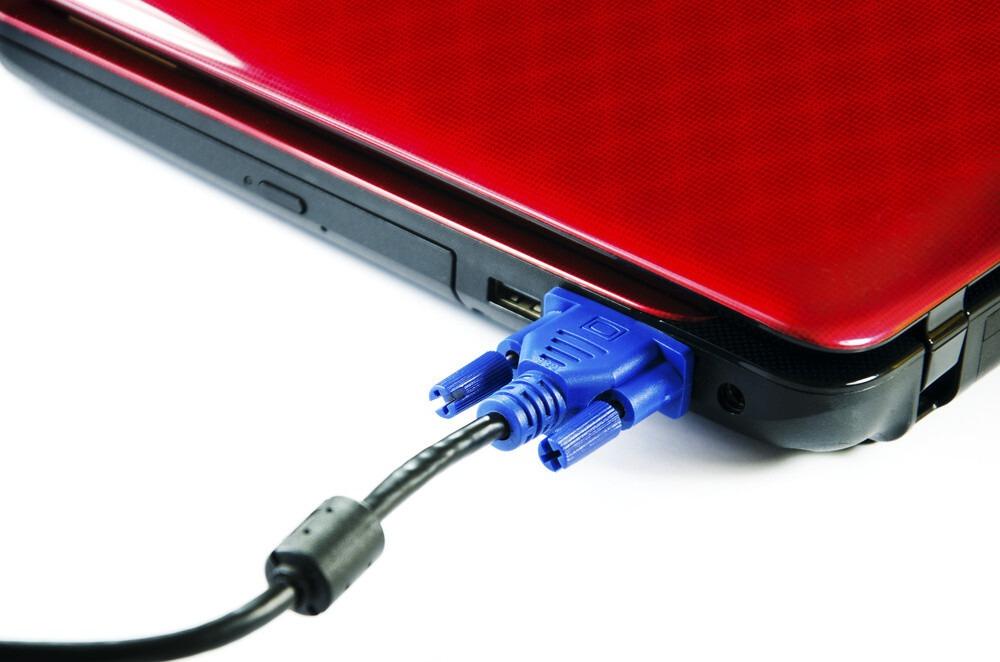 Connecteur vga sur pc portable