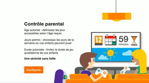 Controle parentalite Pass jeux video orange
