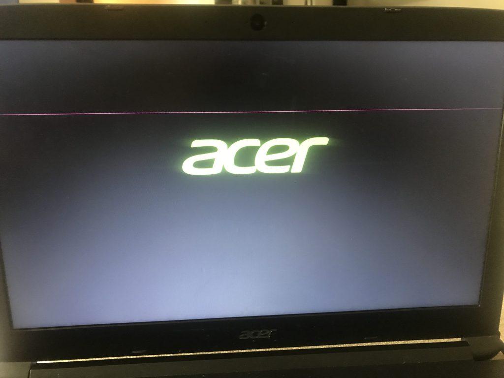 Ligne horizontal ecran pc ACER 2