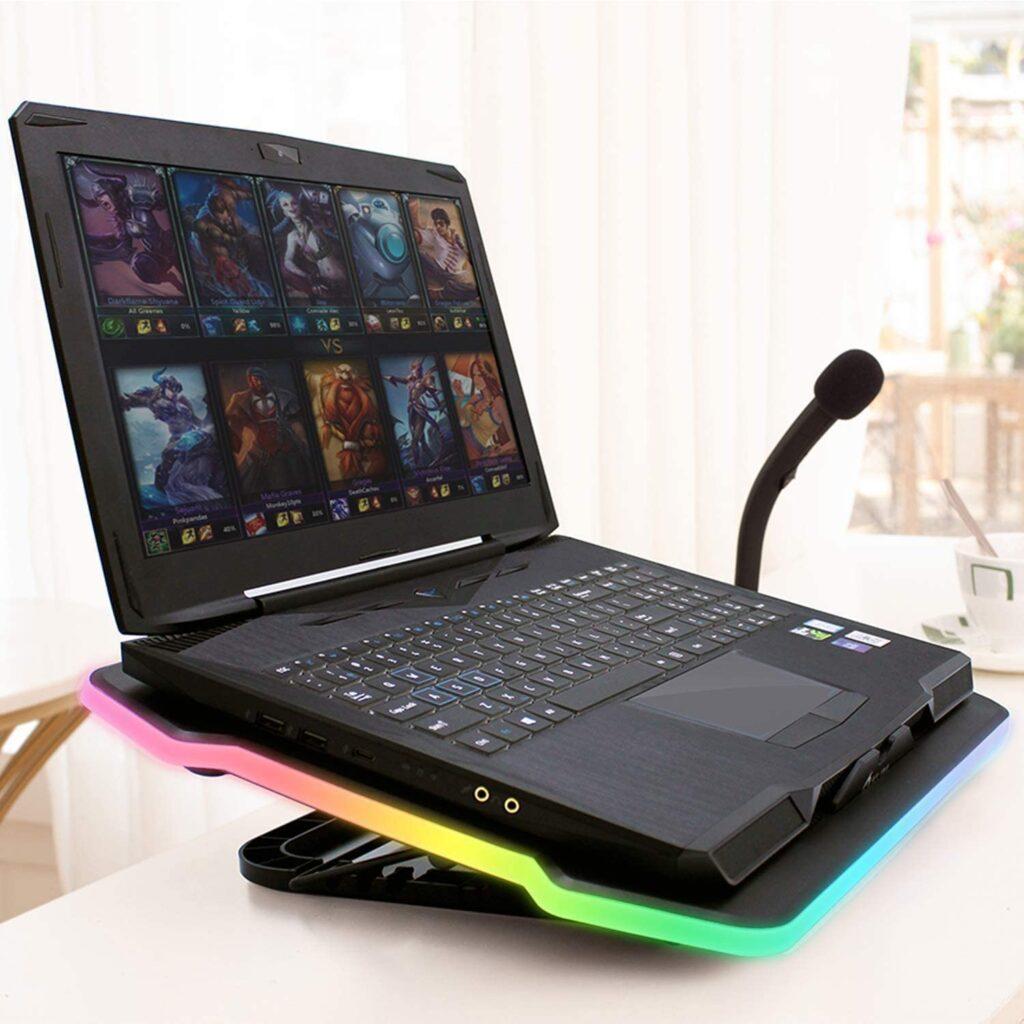 Refroidisseur PC portable avec eclairage RGB