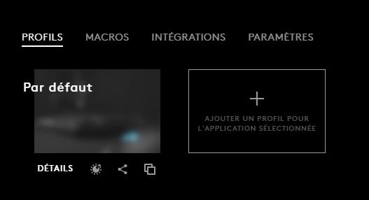 profil logitech g hub