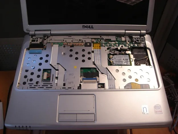 clavier pc portable demonte
