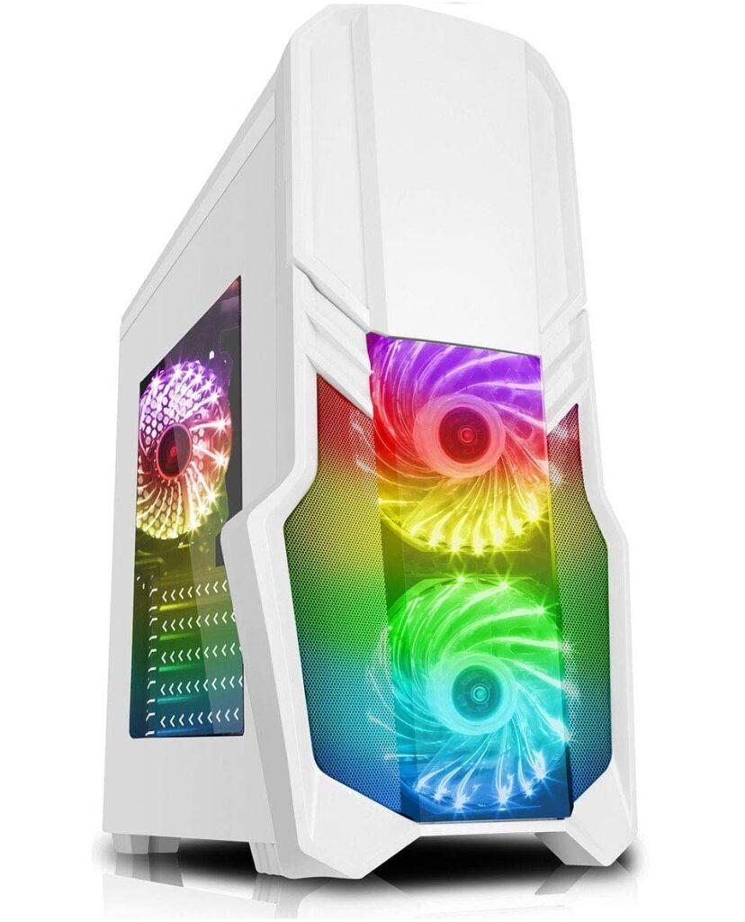 Boitier RGB blanc pour gamer