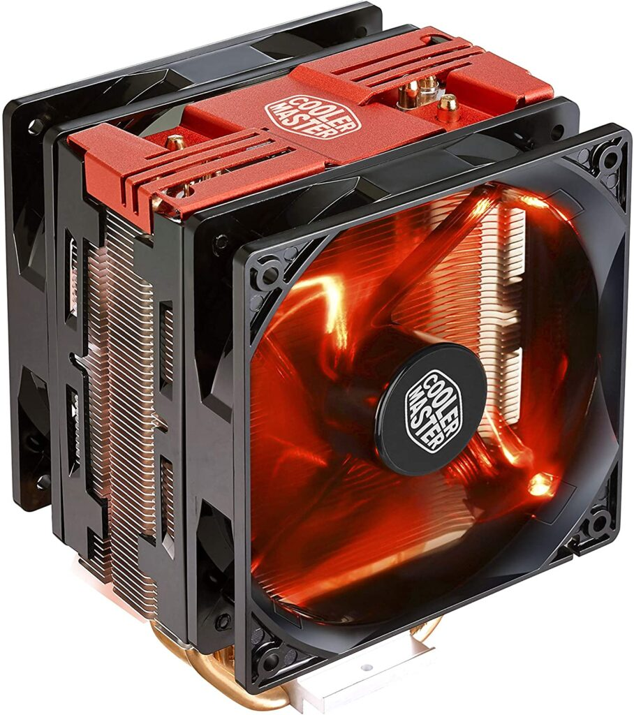 ventilateur RGB rouge Cooler master