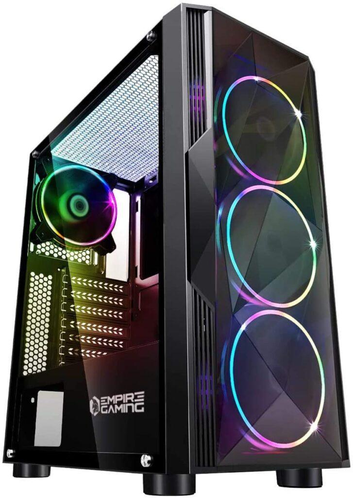 Tour PC ATX en RGB avec verre latérale