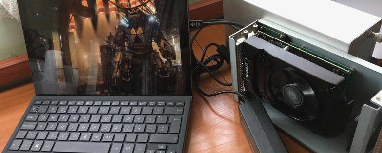 set up gaming avec egpu