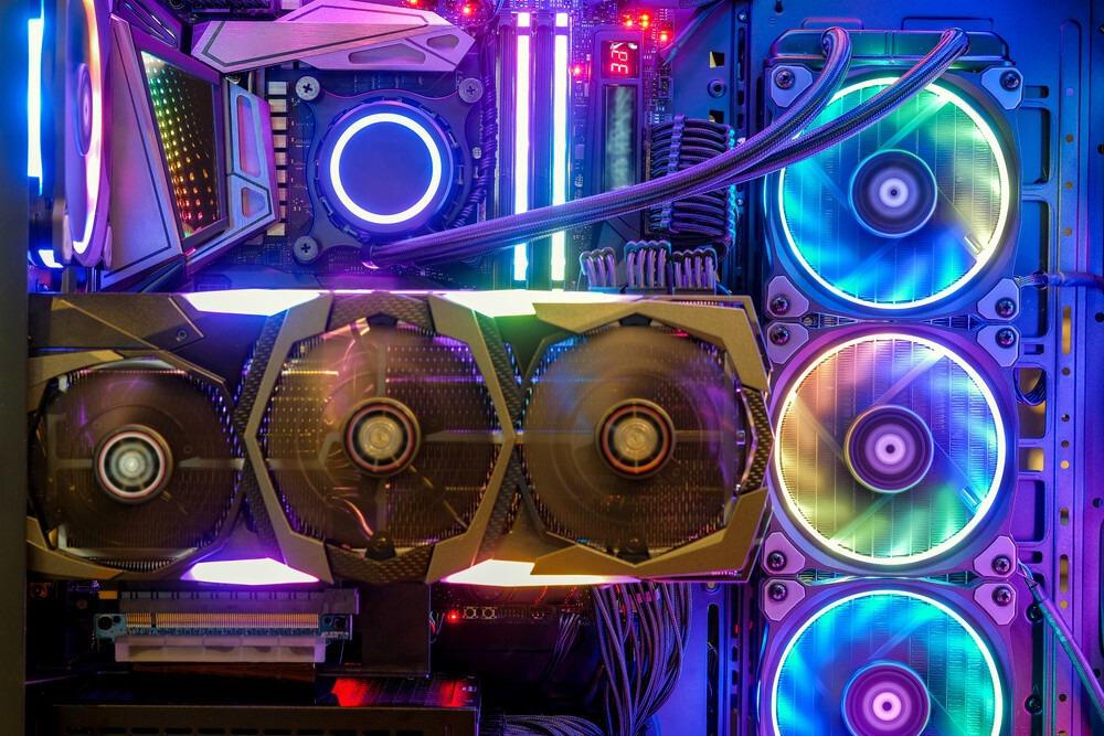 composant RGB dans un boitier de PC