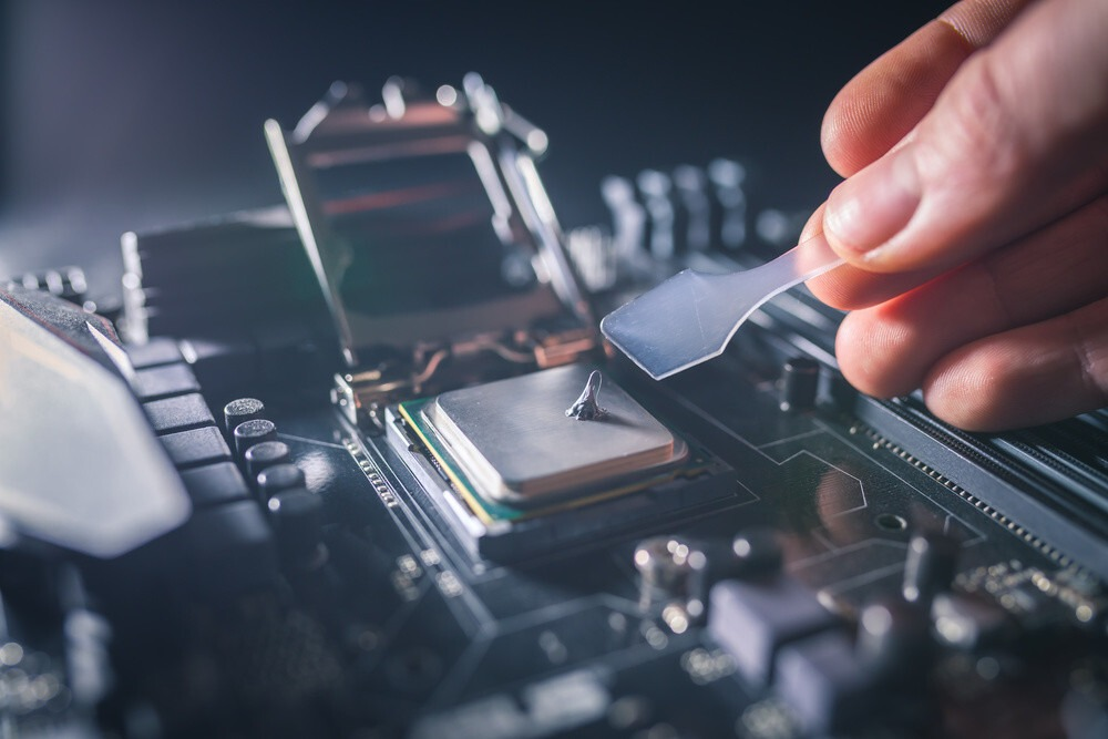 pâte thermique sur CPU