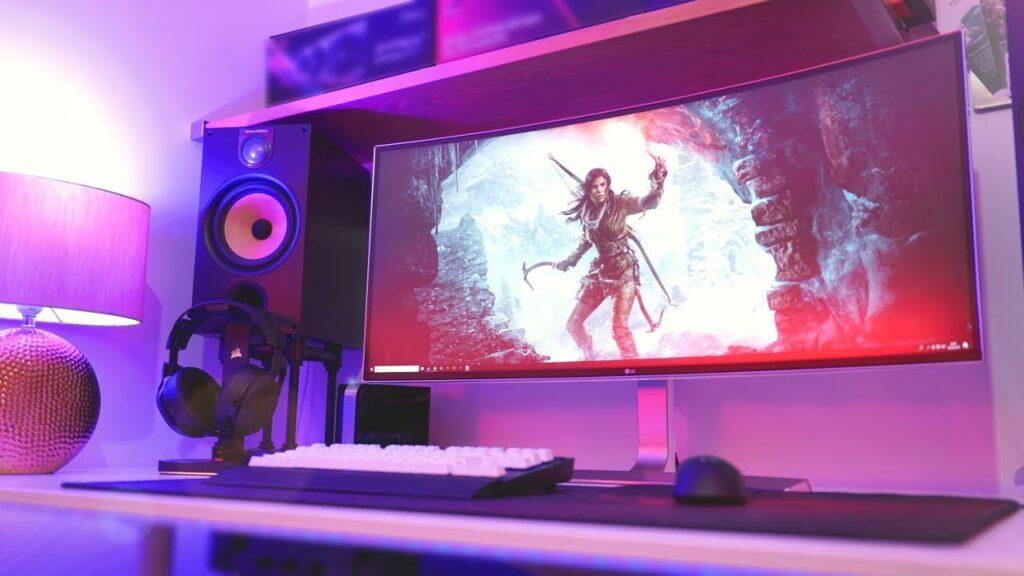 set up gamer pro avec écran ultrawide