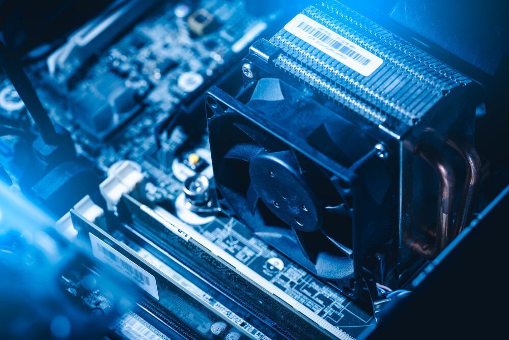 ventilateur CPU noir