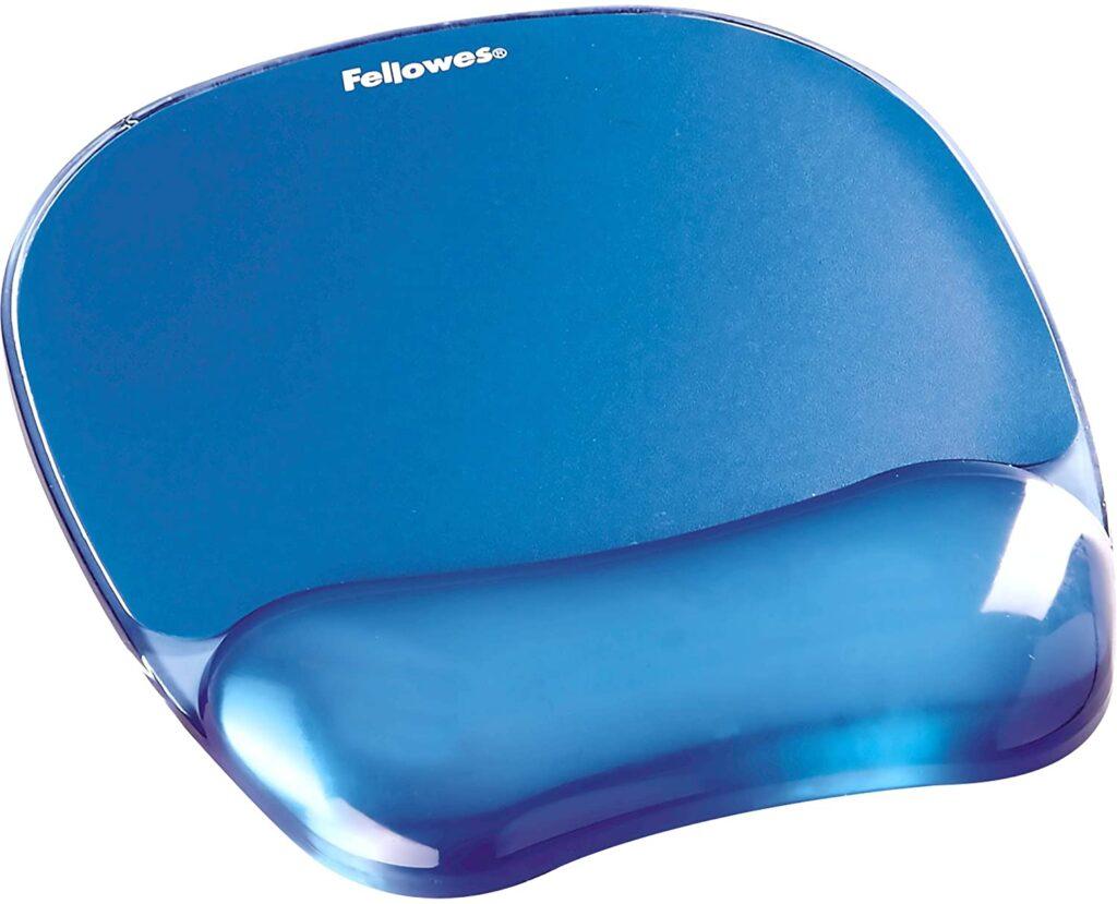 tapis de souris repose poignet en bleu