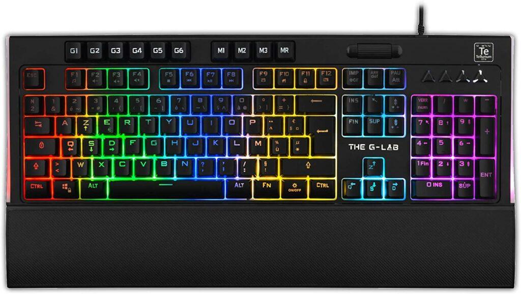 clavier silencieux avec couleur