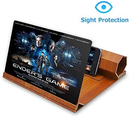 loupe écran pour smartphone en bois