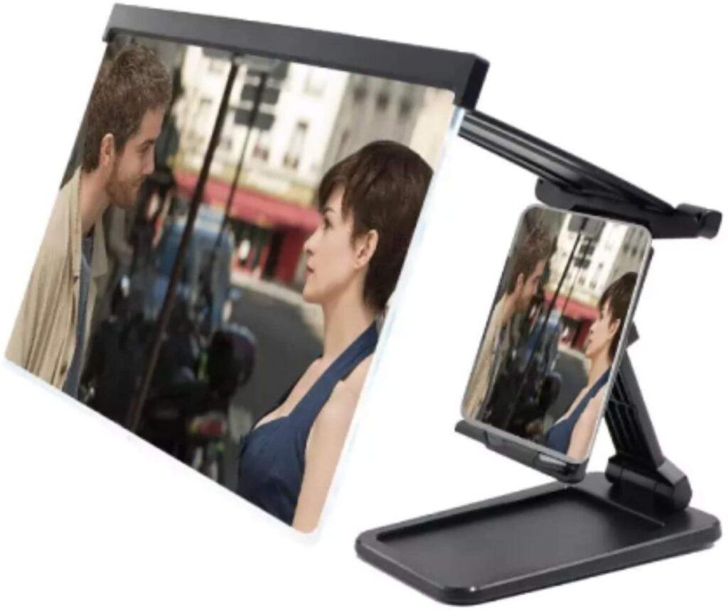 loupe écran avec support pour téléphone