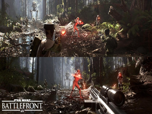 écran partagé battlefront 2 star wars ps4