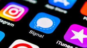 application signal sur téléphone
