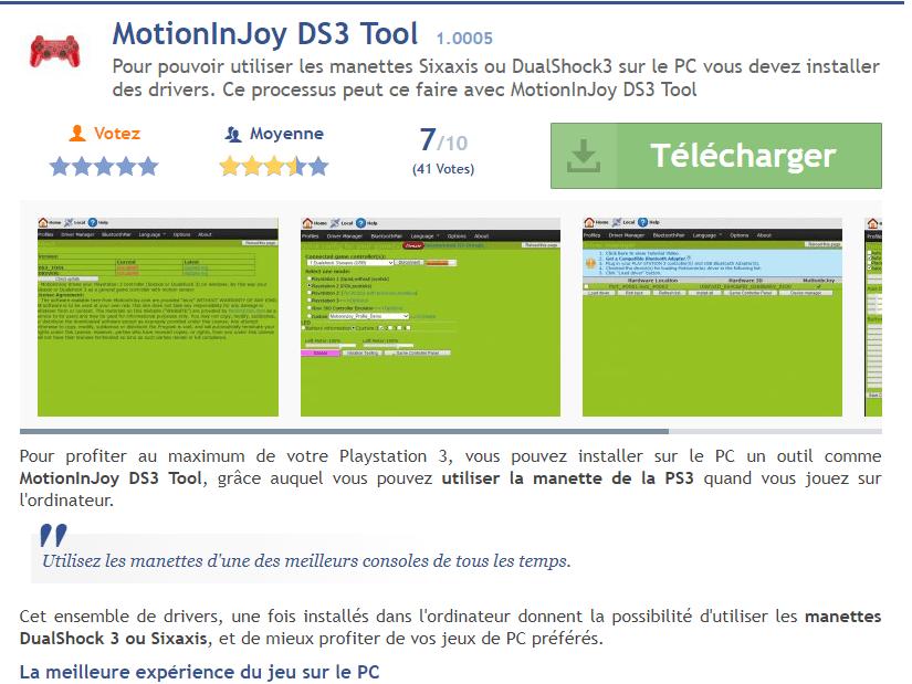 Télécharger MotioninJoy